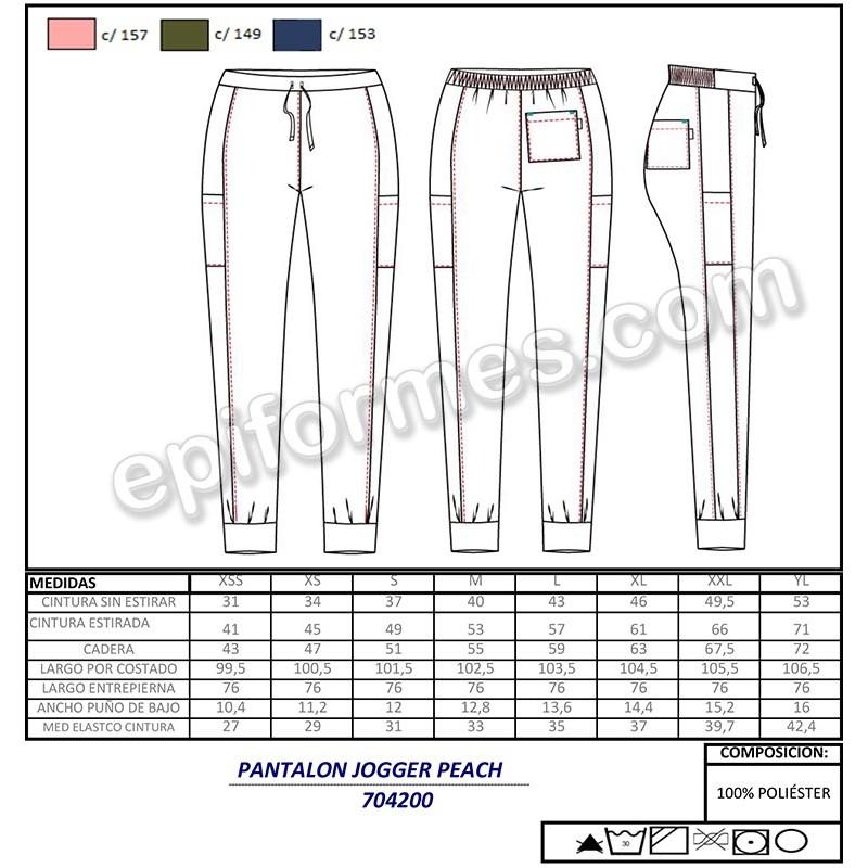 Pantalón sanitario piel de melocotón