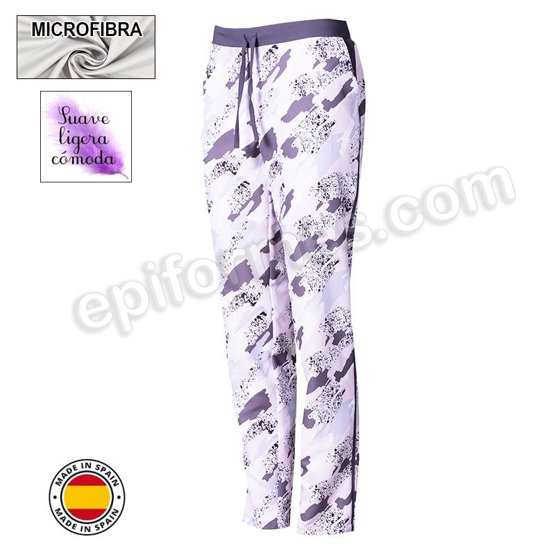 Pantalón sanidad, microfibra, gris marengo