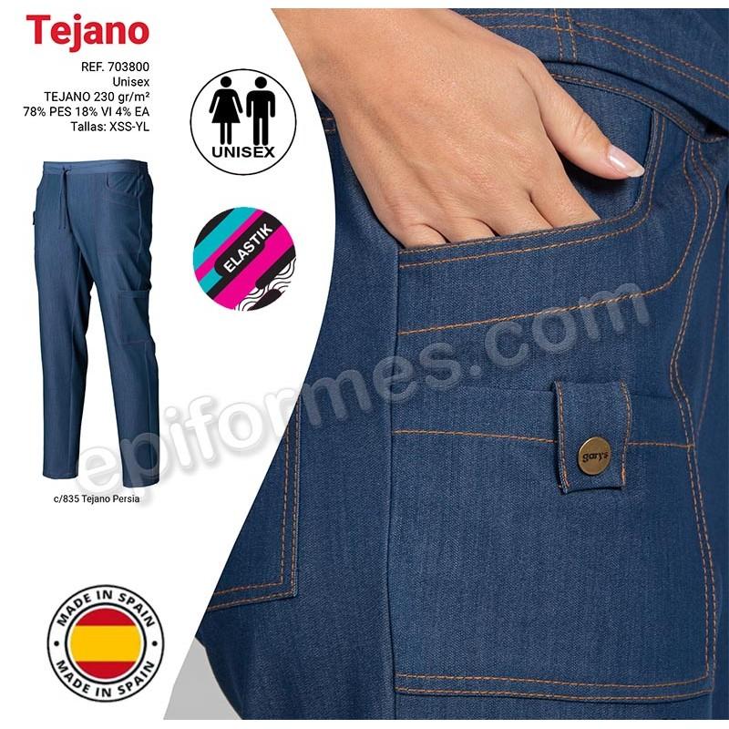 Pantalón sanidad tejano elástico unisex