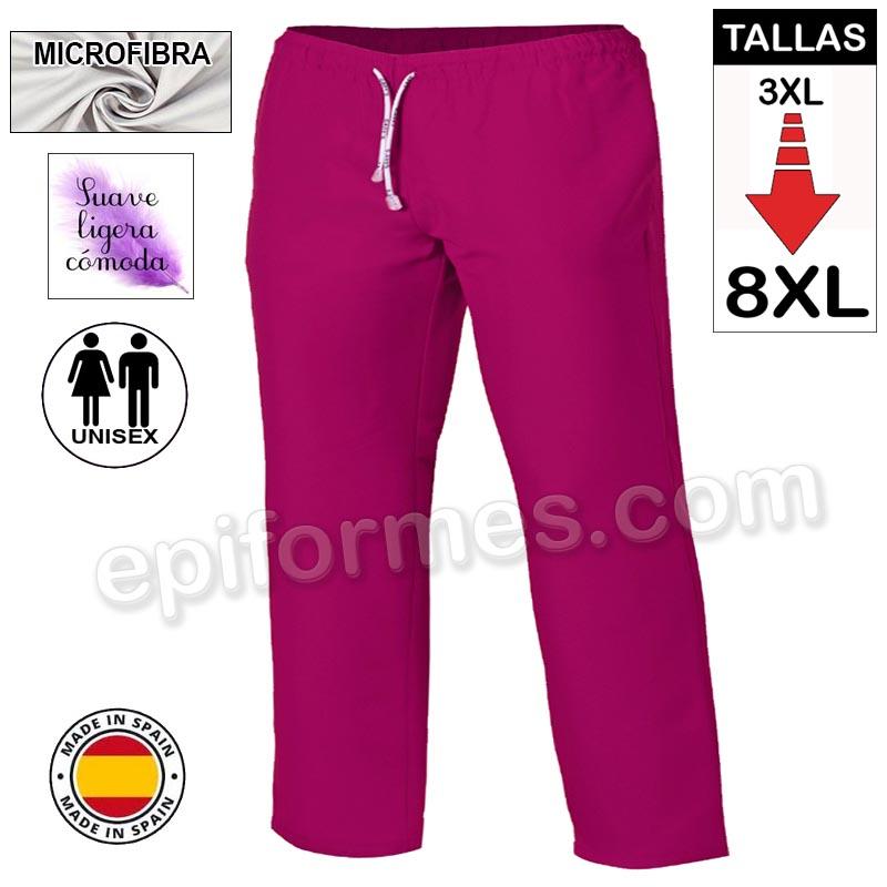 Pantalón  MICROFIBRA frambuesa talla especial