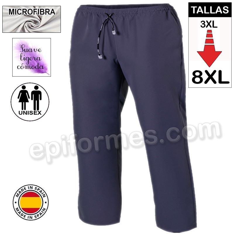 Pantalón  MICROFIBRA gris talla especial