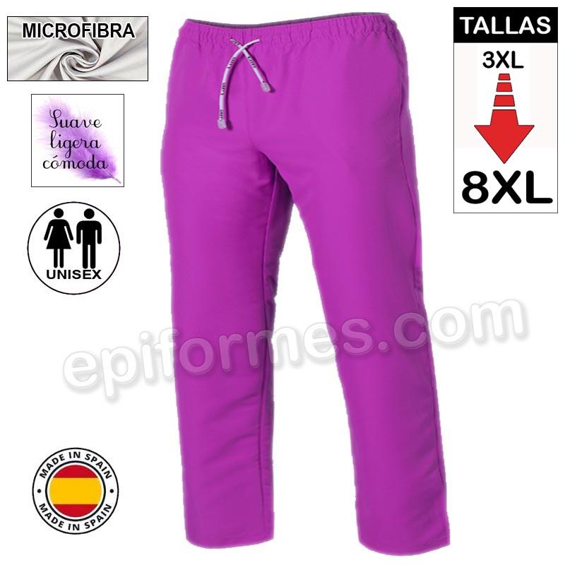 Pantalón  MICROFIBRA malva talla especial