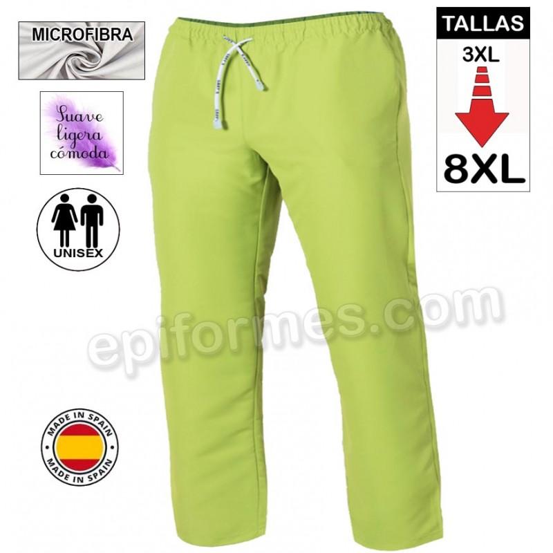 Pantalón  MICROFIBRA pistacho talla especial