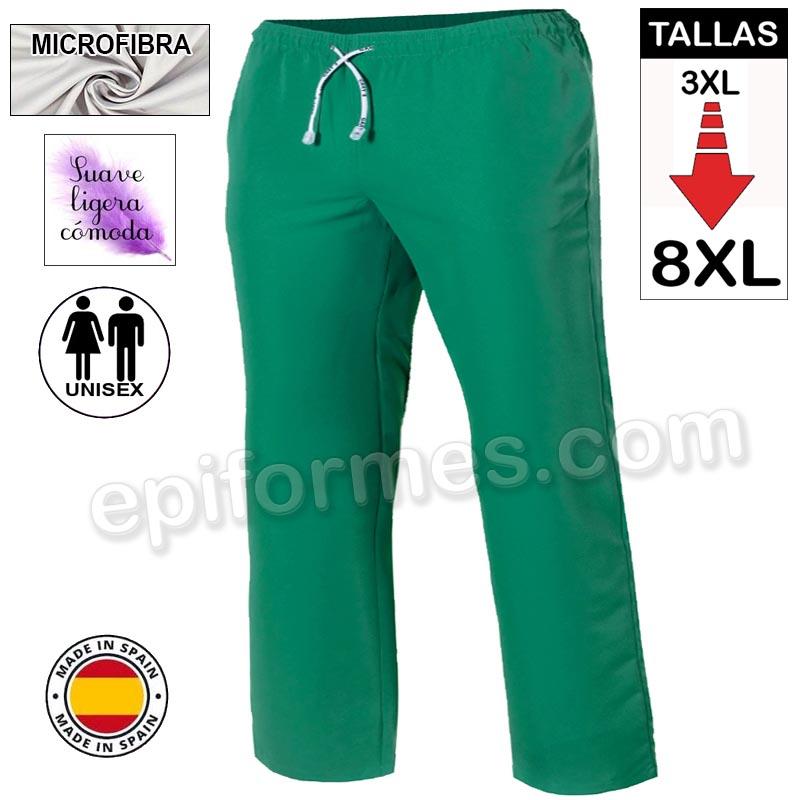 Pantalón  MICROFIBRA verde talla especial
