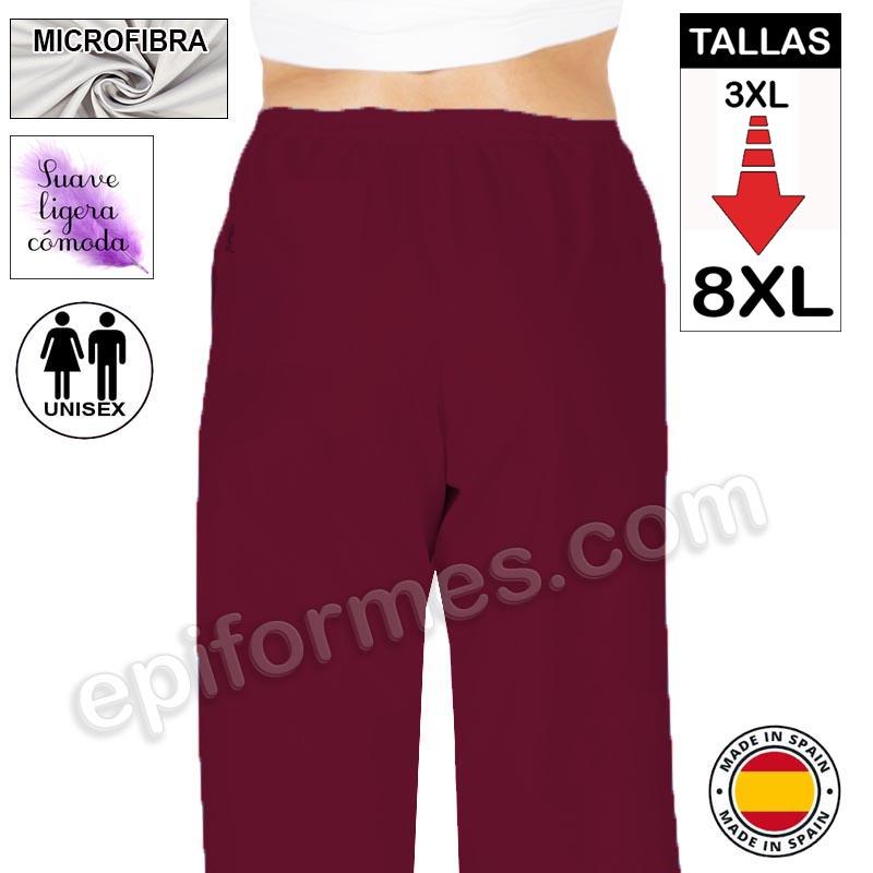 Pantalón  MICROFIBRA burdeos talla especial