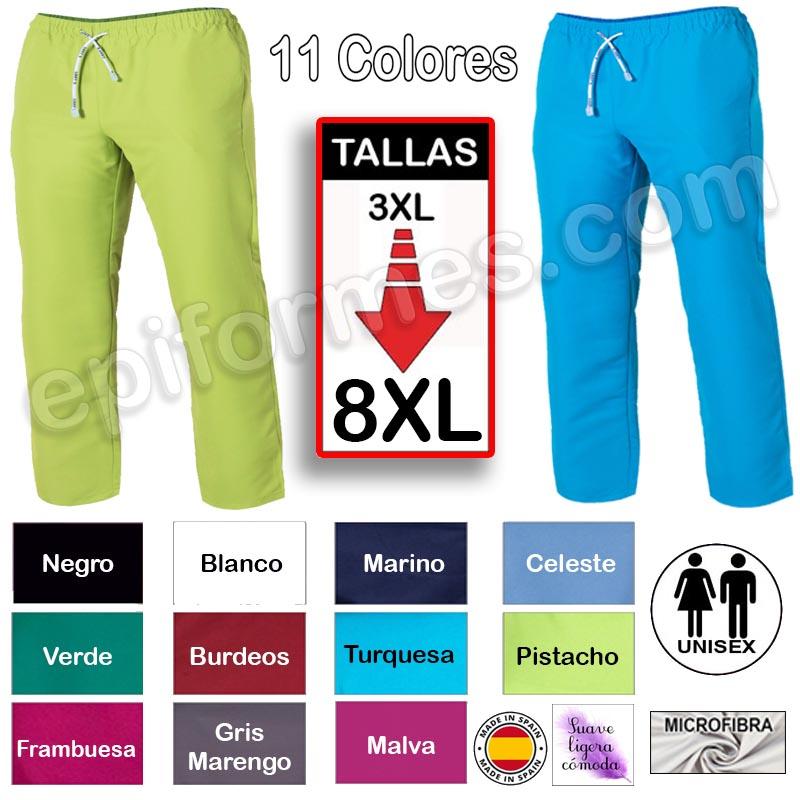 Pantalón de pijama MICROFIBRA 11 colores tallas e...