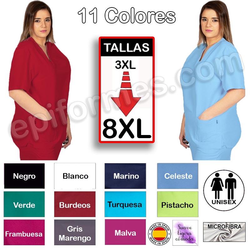 Casaca sanitaria microfibra, 11 Colores TALLAS EXT...