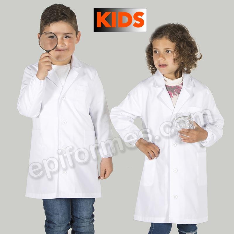 Bata laboratorio infantil blanca