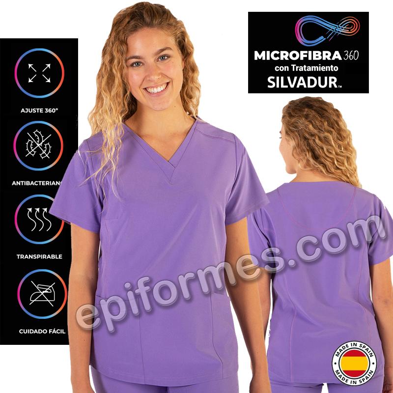 Casaca sanidad Microfibra elástica 12 colores