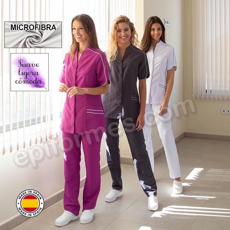 Casaca clinica, microfibra, 3 colores