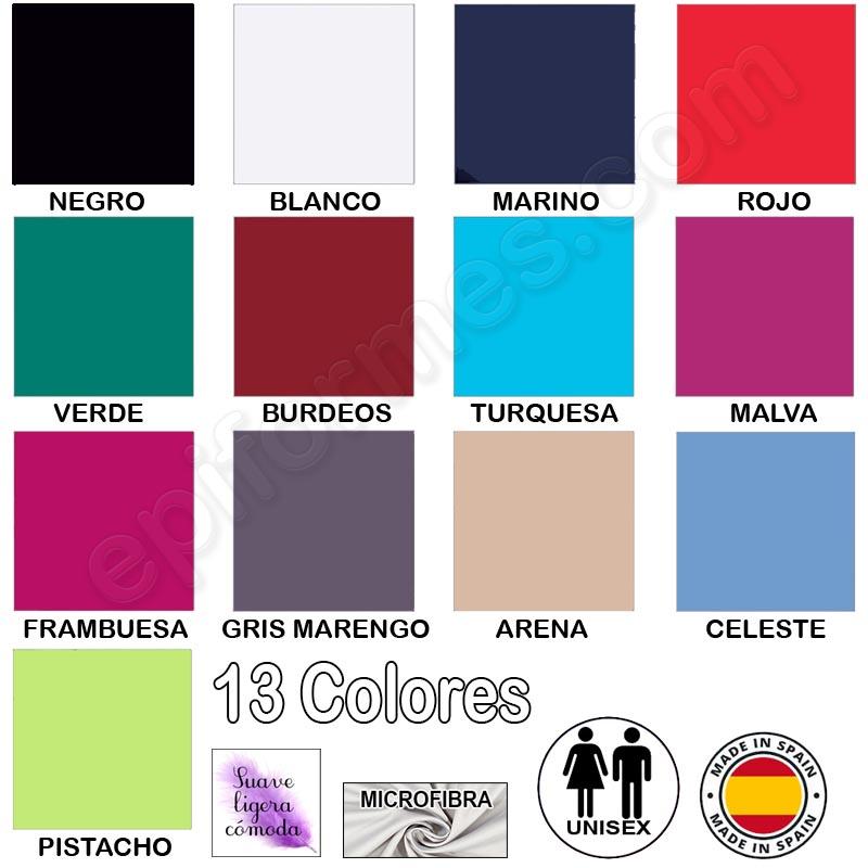 Casaca sanitaria microfibra, 13 Colores