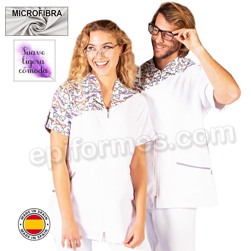 Casaca para ópticas en microfibra