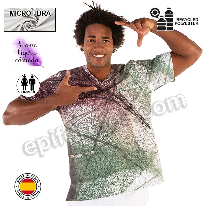 Casaca sanitaria,brotes  microfibra reciclada