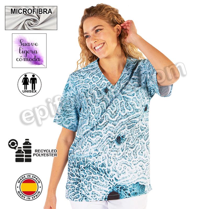 Casaca sanitaria,fucus  microfibra reciclada