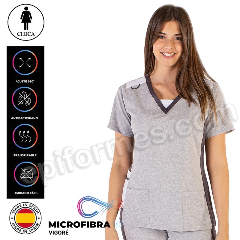 Casaca sanidad Microfibra elástica 360.