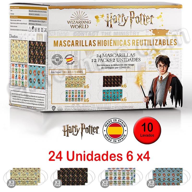 24 Mascarillas higiénicas infantiles Harry Potter