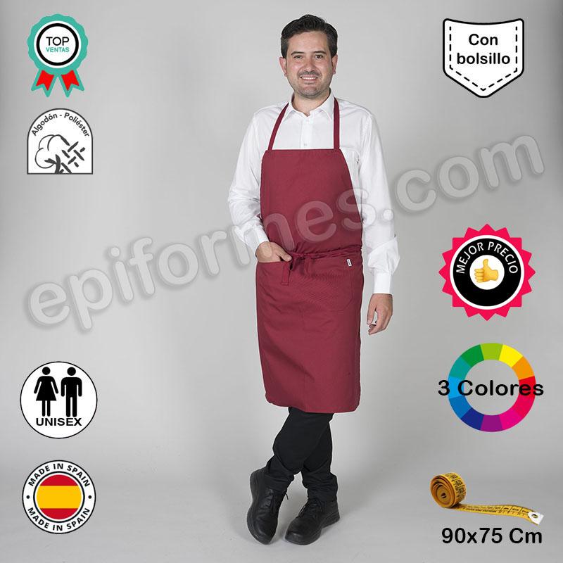 Delantal con peto económico en 3 colores