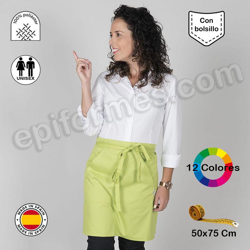 Delantal con bolsillo 12 colores Poliéster
