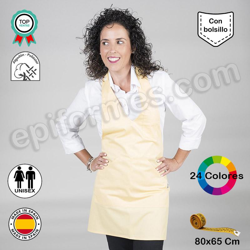Delantal hostelería Bistro, 24 colores