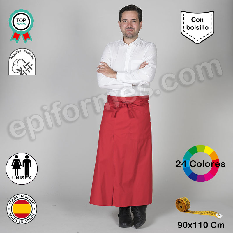 Delantal Francés Abierto 24 colores