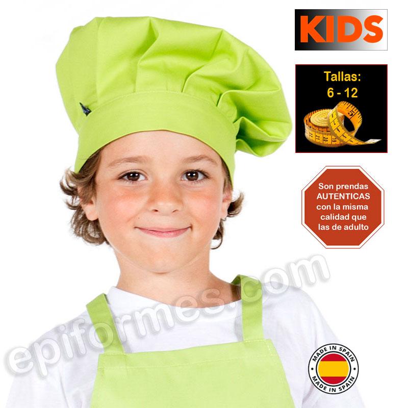 Gorro de cocina infantil, pistacho