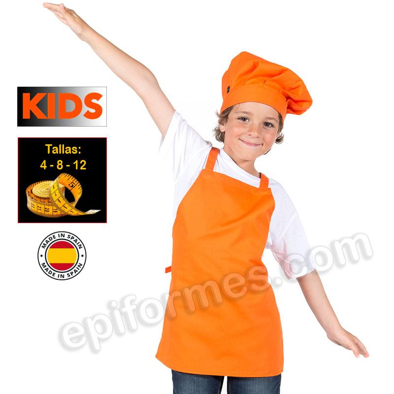 Delantal de cocina infantil, Naranja