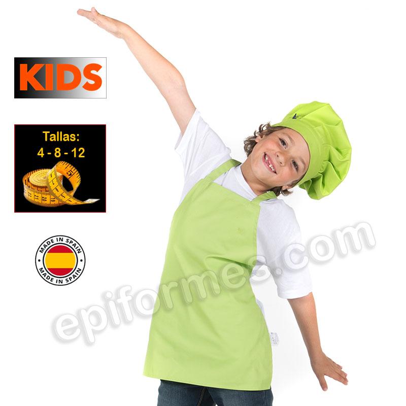 Delantal de cocina infantil, pistacho