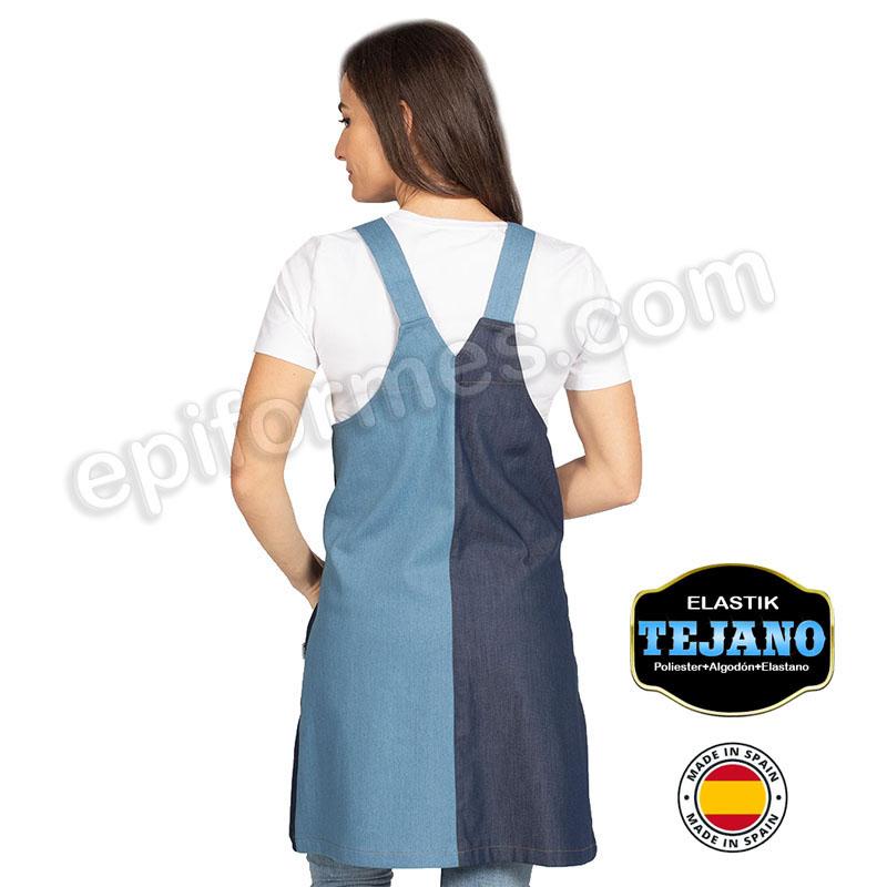 Blusa maestra tejana elastica combinada