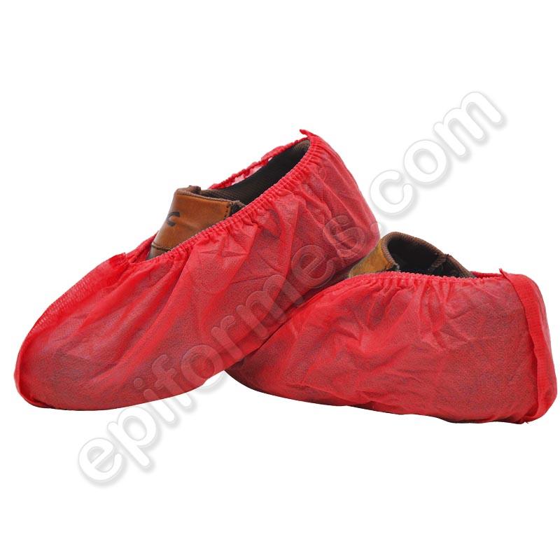 100 cubrezapatos en polipropileno TST, Rojo