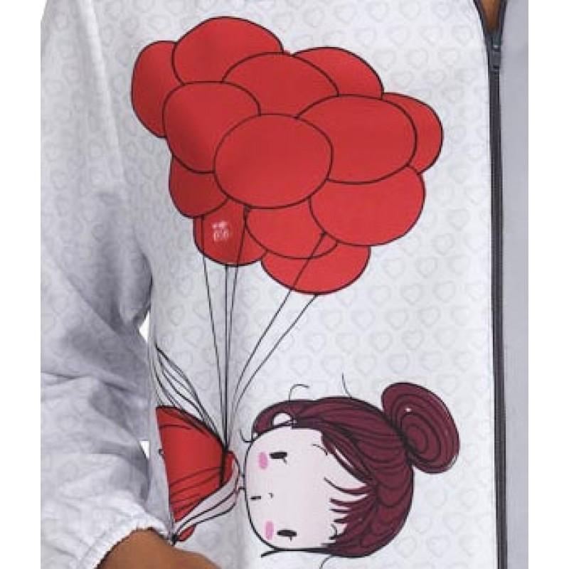 .Bata de maestra niña globos