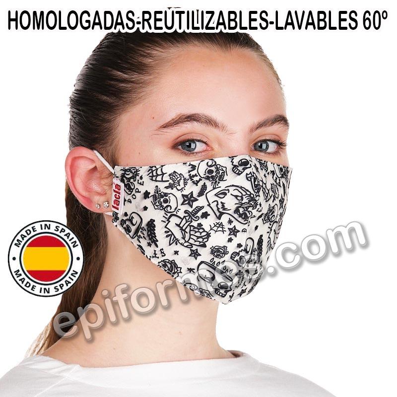 Mascarilla HOMOLOGADA joven, Tatoo beig