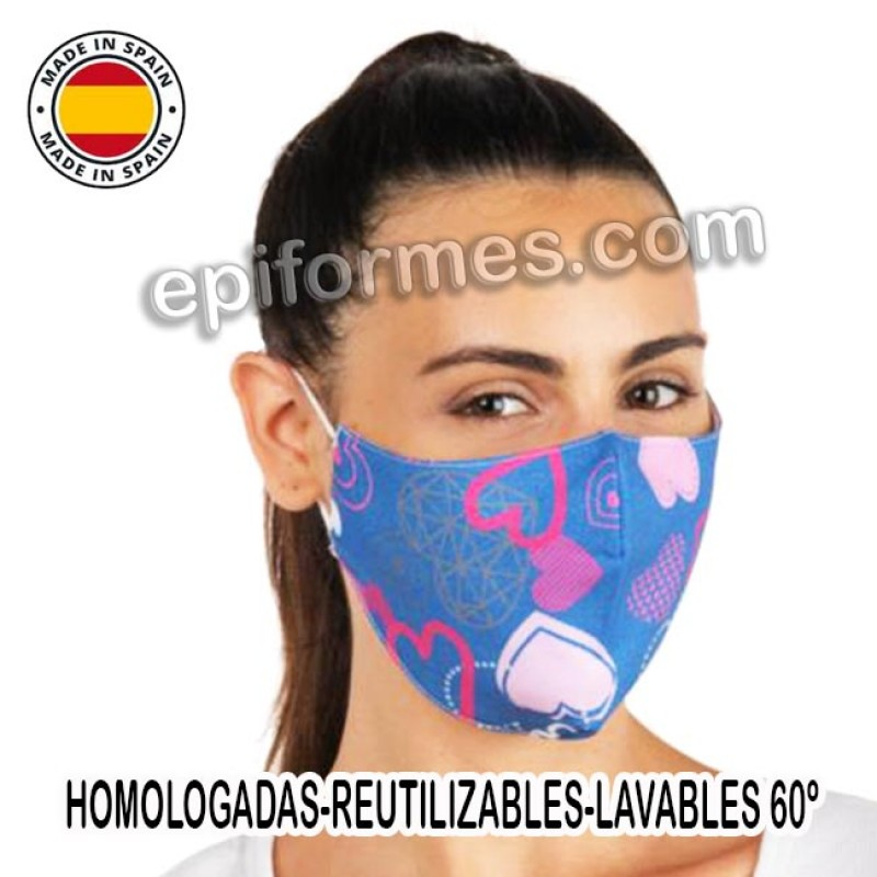 Mascarilla HOMOLOGADA estampado tejano