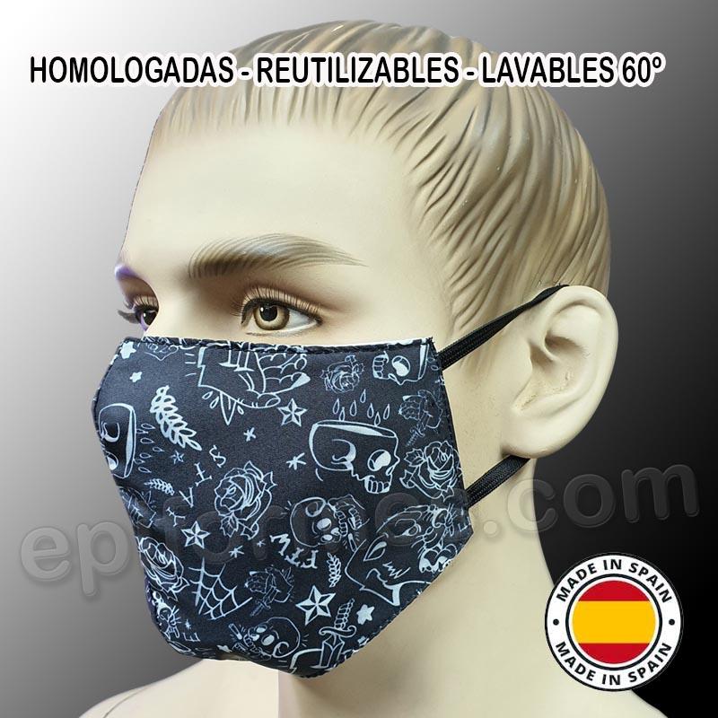 Mascarilla HOMOLOGADA reutilizable Tatoo