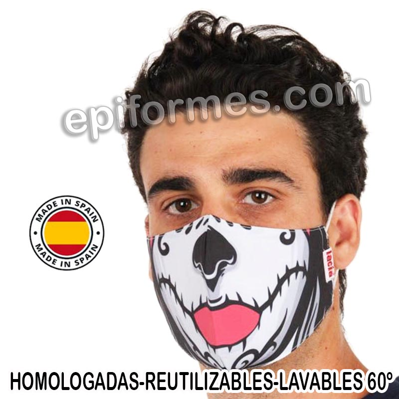 Mascarilla HOMOLOGADA calavera mexicana