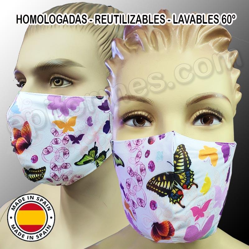 Mascarilla HOMOLOGADA mariposas