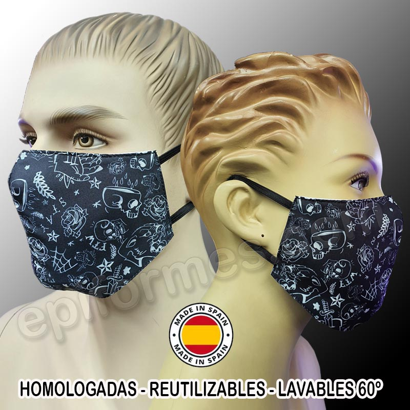 Mascarilla HOMOLOGADA reutilizable Tatoo