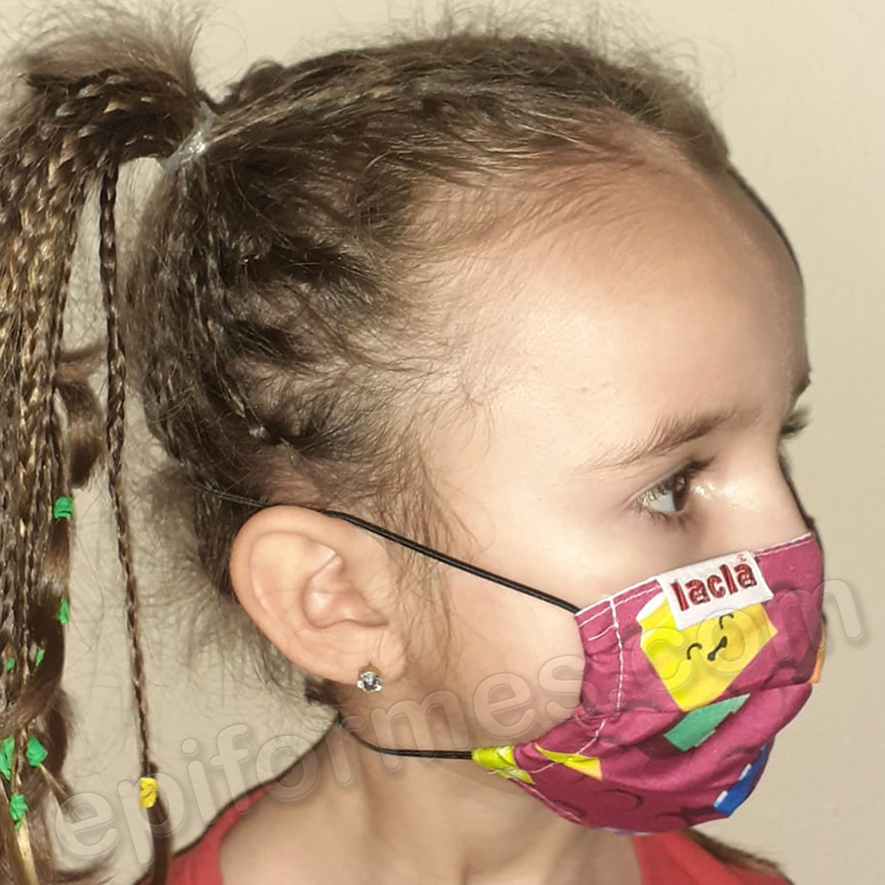 Mascarilla infantil Equivalente FFTP2 lego morado