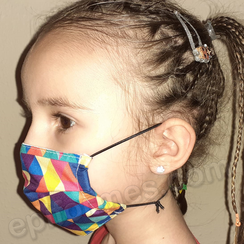 Mascarilla infantil Equivalente FFTP2, multicolor