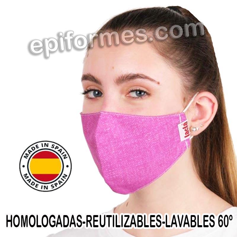 Mascarilla HOMOLOGADA rosa