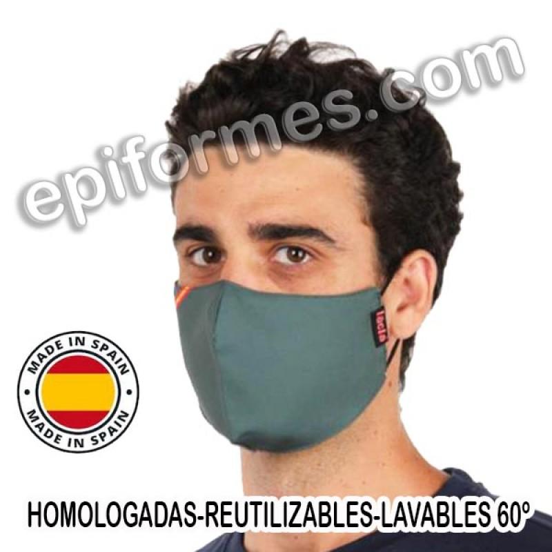 Mascarilla HOMOLOGADA reutilizable verde bandera E...