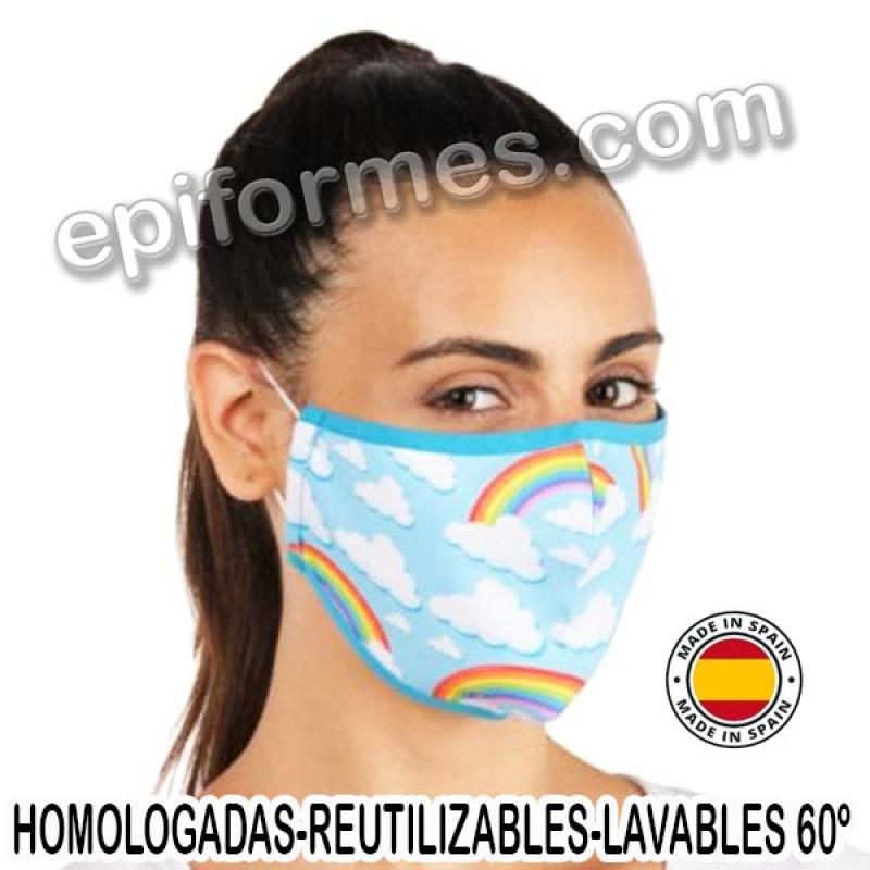 Mascarilla HOMOLOGADA Arcoiris