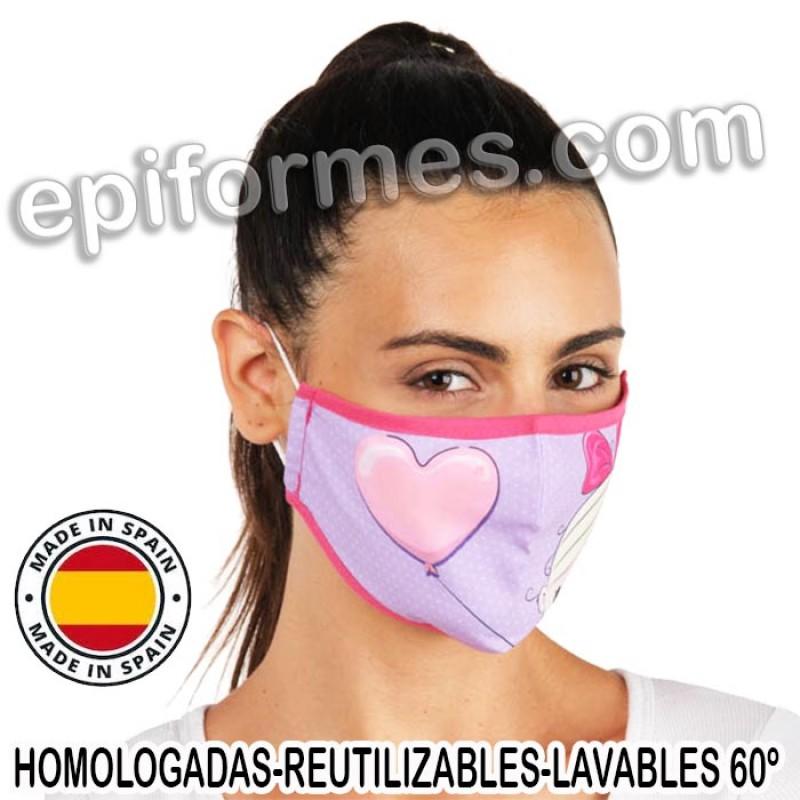 Mascarilla HOMOLOGADA niña globo