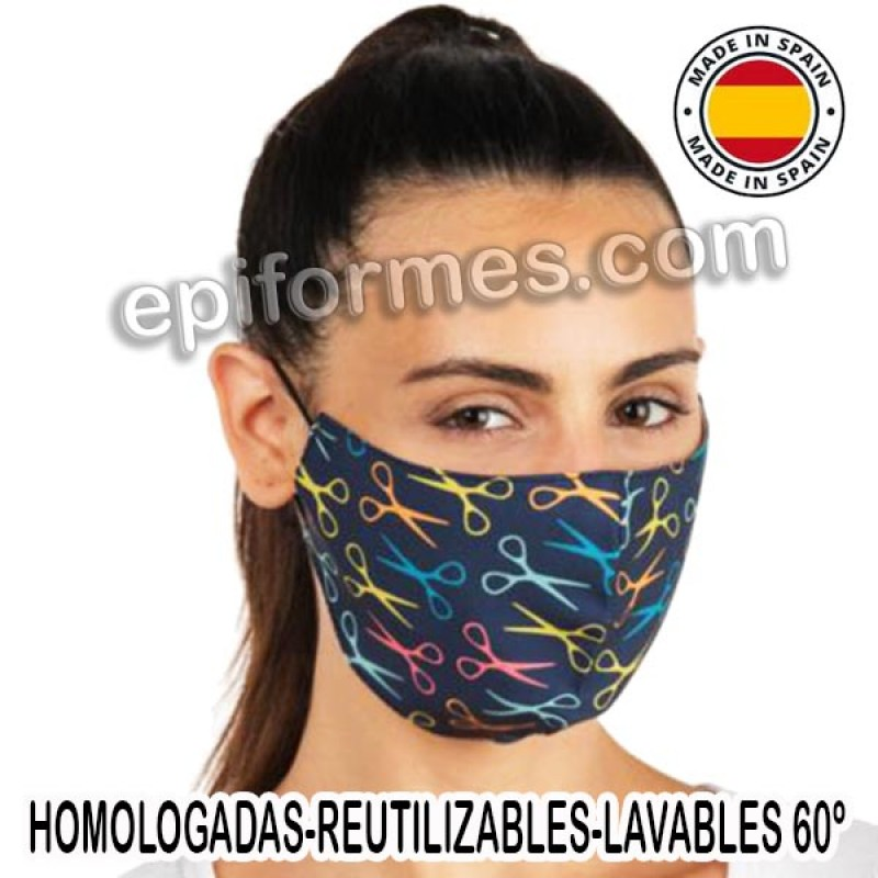 Mascarilla HOMOLOGADA reutilizable Tijeras