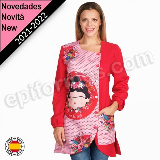 Bata de maestra Frida Kahlo