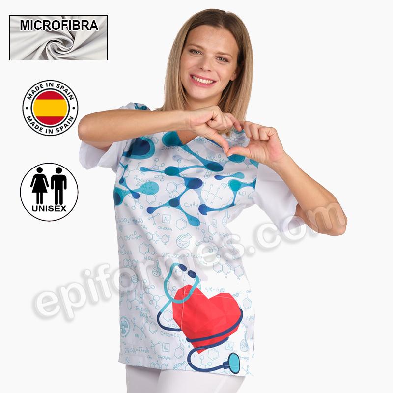 Casaca sanitaria unisex corazón