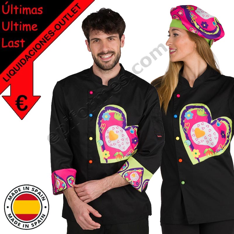 .Chaqueta cocinero Fried heart