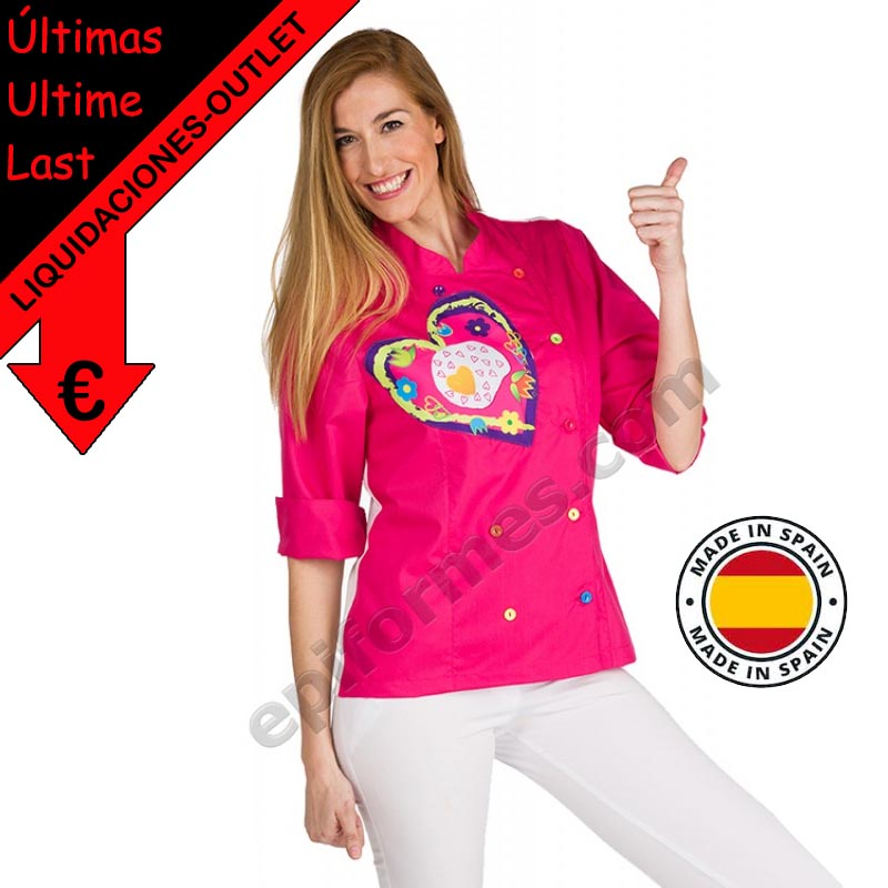 .Chaqueta cocinera fried heart