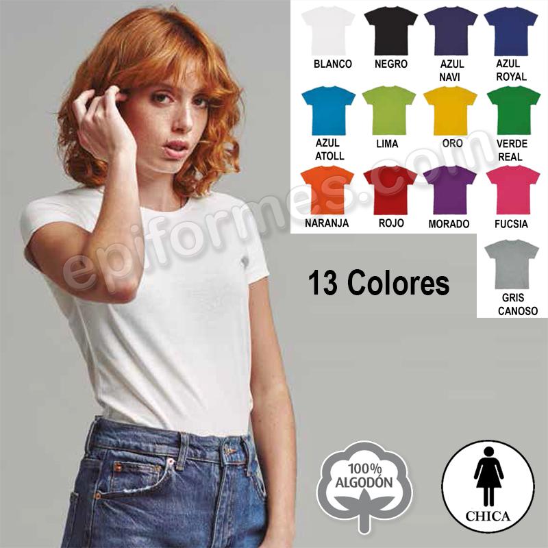 Camiseta manga corta chica 13 colores