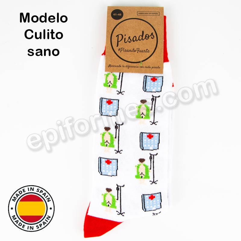 Calcetines de sanidad estampados culito sano