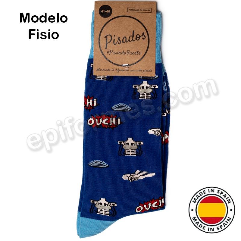 Calcetines de sanidad estampados fisio